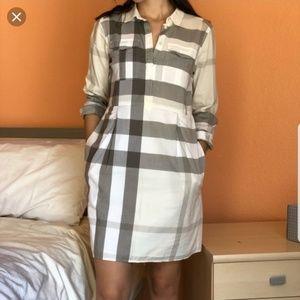 Burberry Dresses - Burberry Peggie Checked Shirt Dress